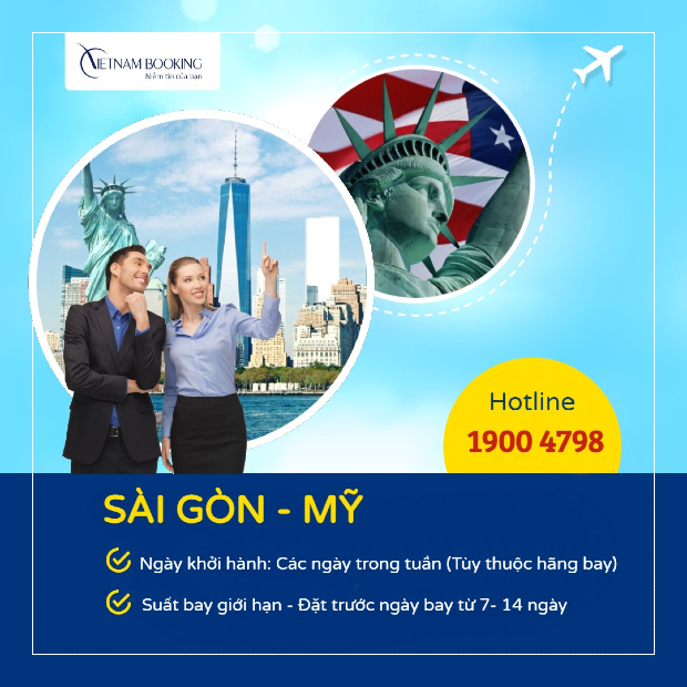 Vé máy bay từ Việt Nam đi Mỹ giá rẻ nhất