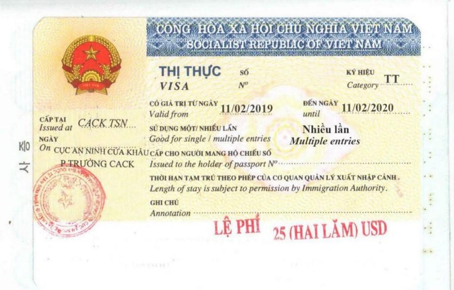 Thủ tục gia hạn visa LĐ1, LĐ2 cho người nước ngoài tại Việt Nam